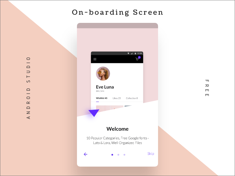 roonystudio-on-boarding-screen-walkthrough- android app