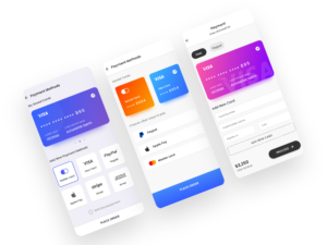 Payment screen Android XML layout template main image