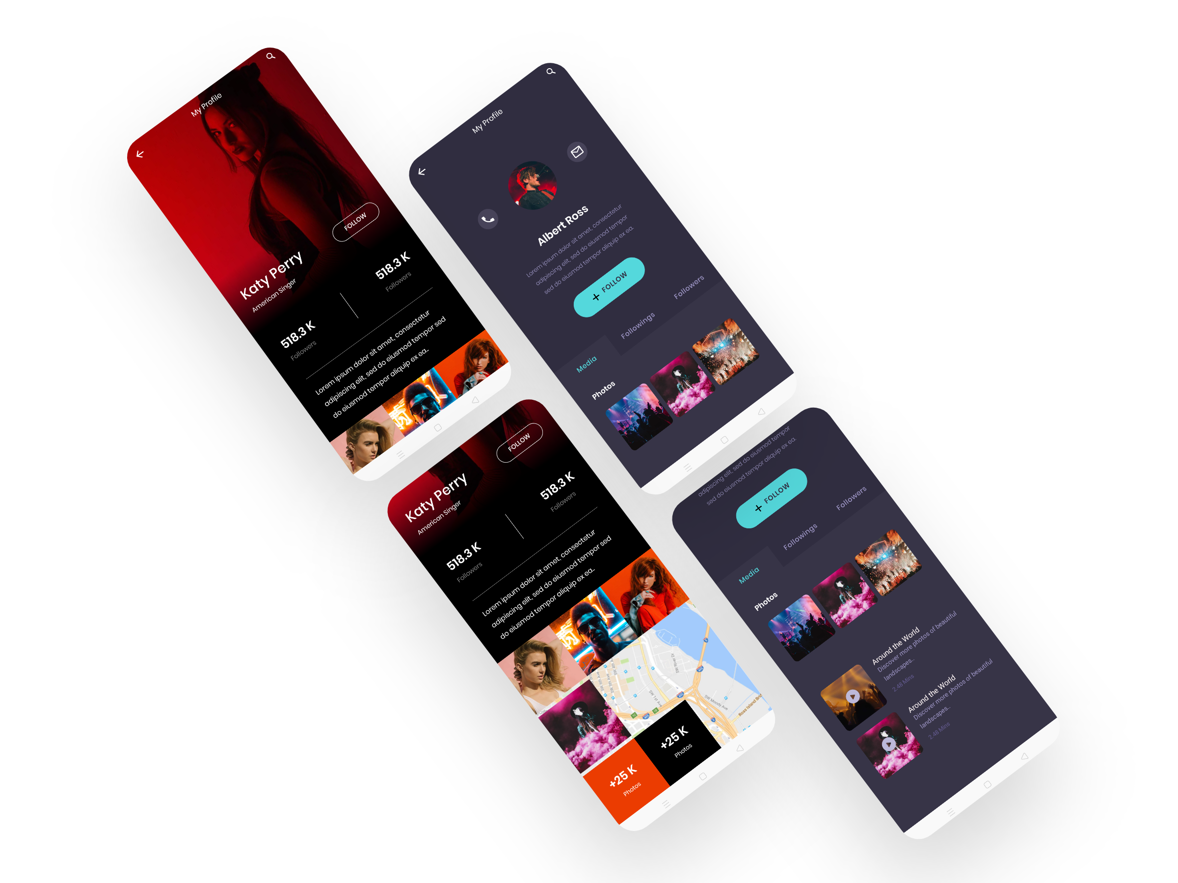 Profile screen Android XML layout template ronny studio rohan surve