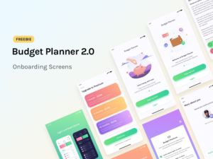 Budget Planner - Onboarding Screens Freebie with android studio-main image