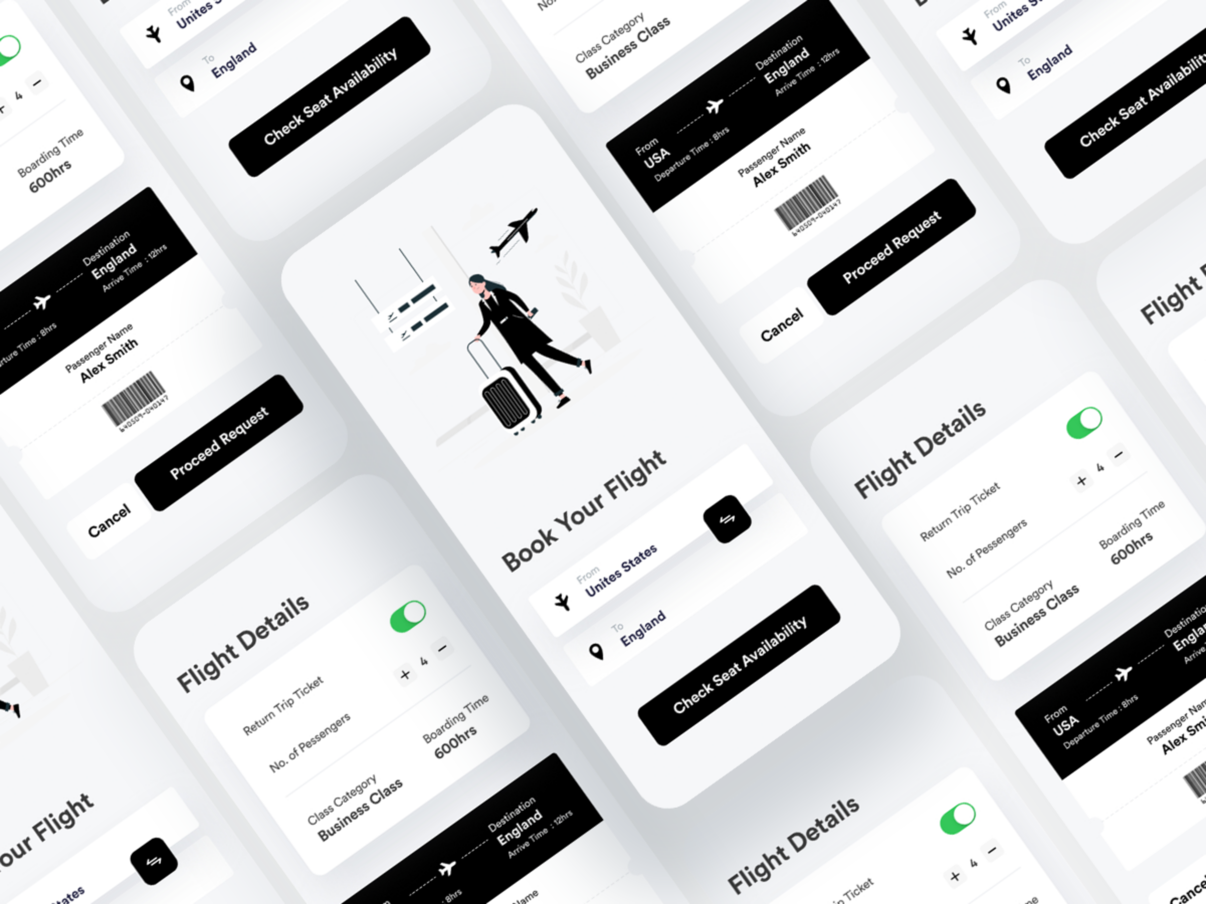 ronnystudiio_Flight Booking App UI Concept_Preview Image