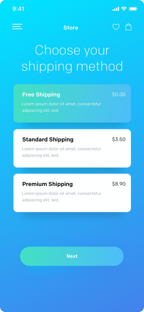 ronnystudio_Payment Screen for e-commerce app with android xml layout_two