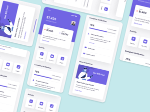 Bank app ui kit ronnystudio part one Rohan surve